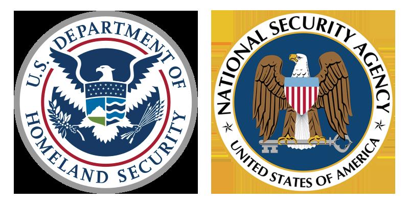 DHS and NSA seals